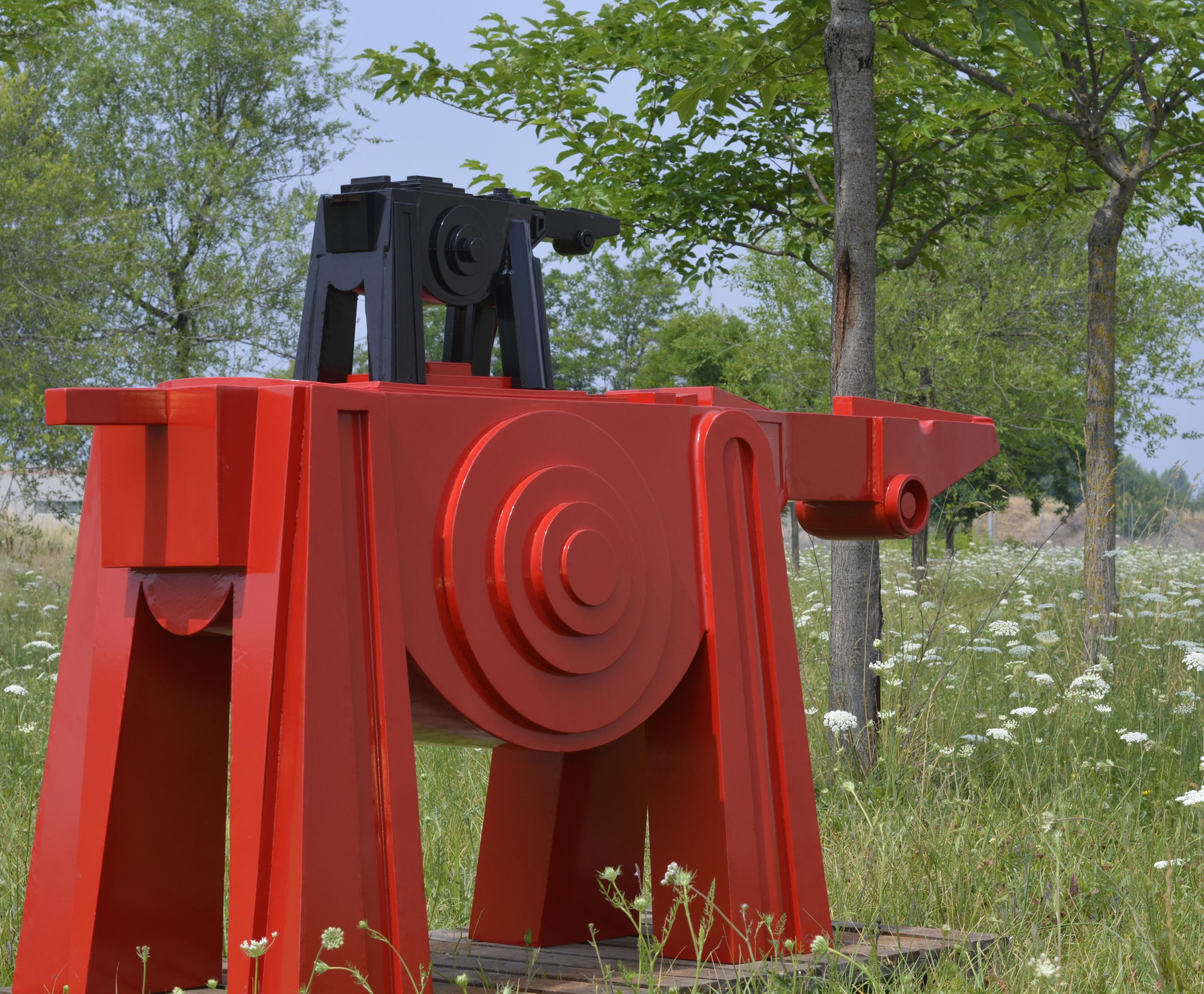Cavallo Rosso Con Puledro Nero Con Sfondo Fg Comunicazione