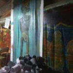 Studio di Marco Ciani con quadro e installazioni