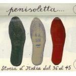 tre solette per scarpe di colore diverso , opera di Luca Clabot