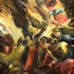 Particolare di quadro di Jorge Pombo colori sfumati